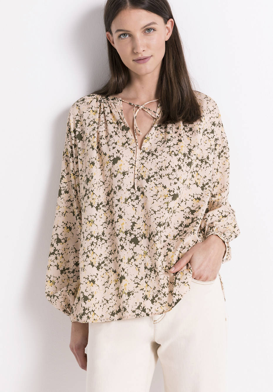 Tunic blouse made from pure organic cotton