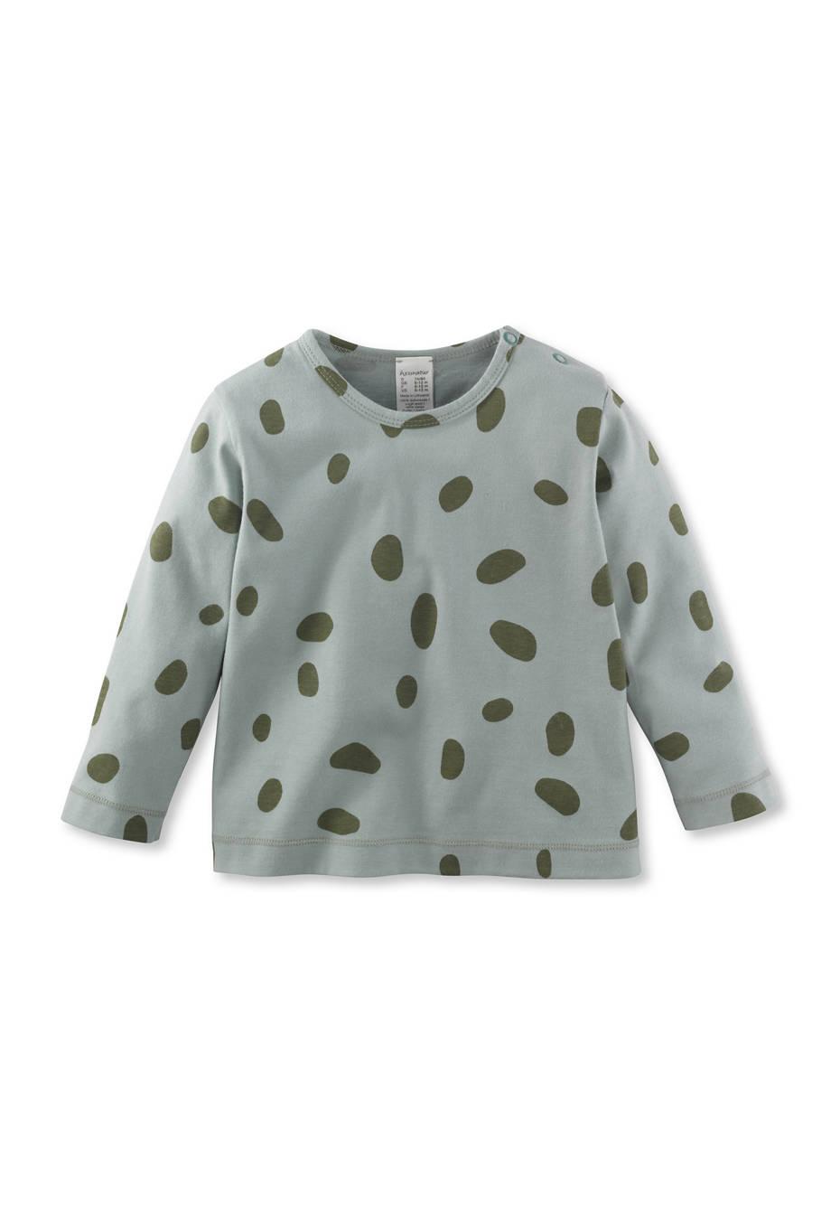 Tupfen-Shirt aus reiner Bio-Baumwolle