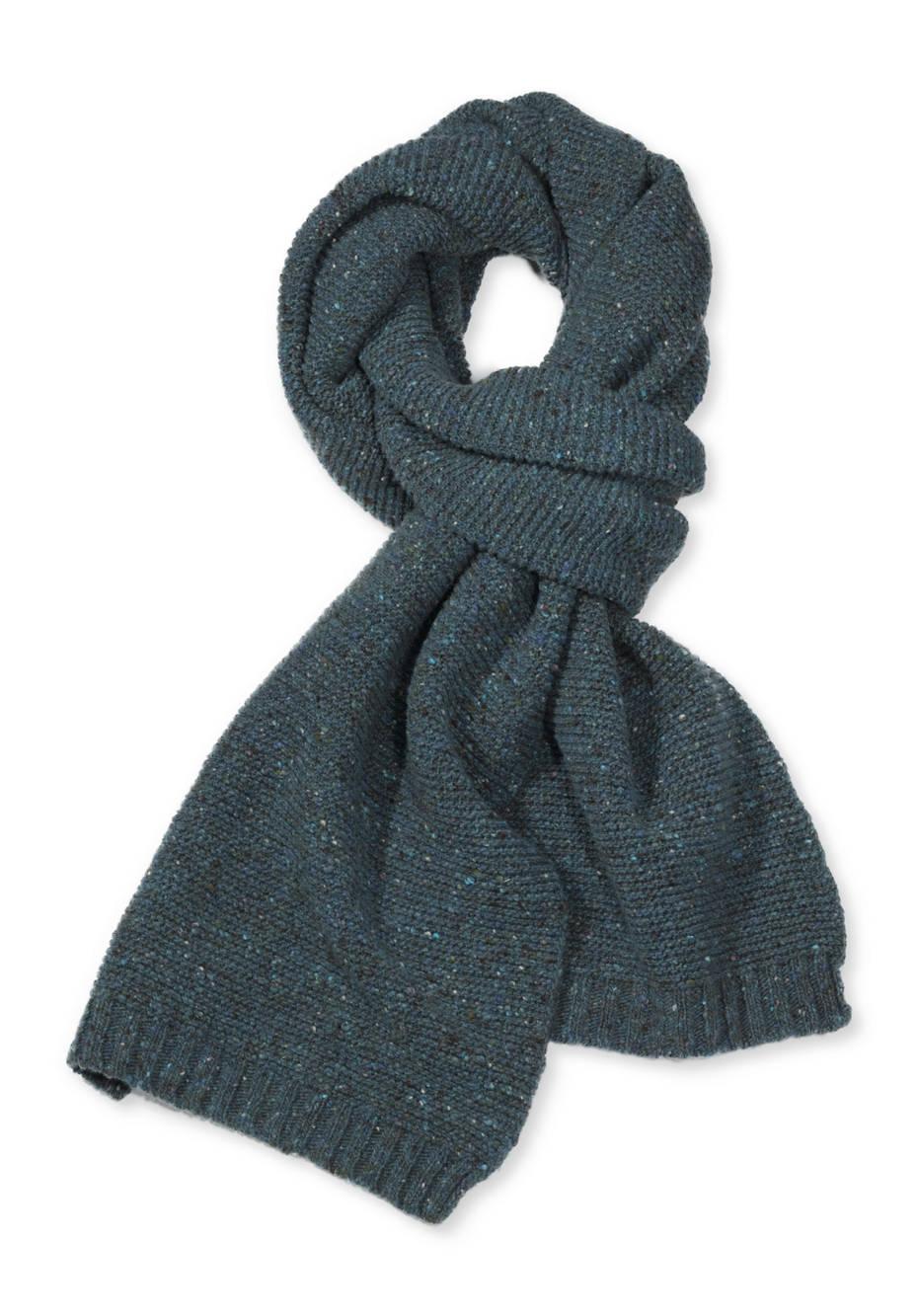 Tweed-Schal aus reiner Schurwolle