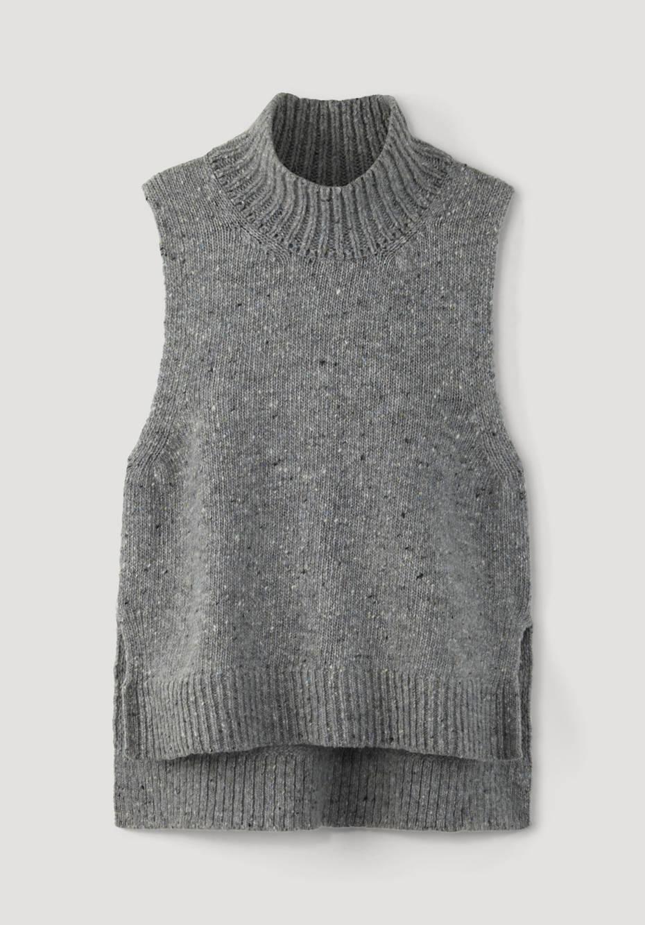 Tweed tank top made of pure new wool