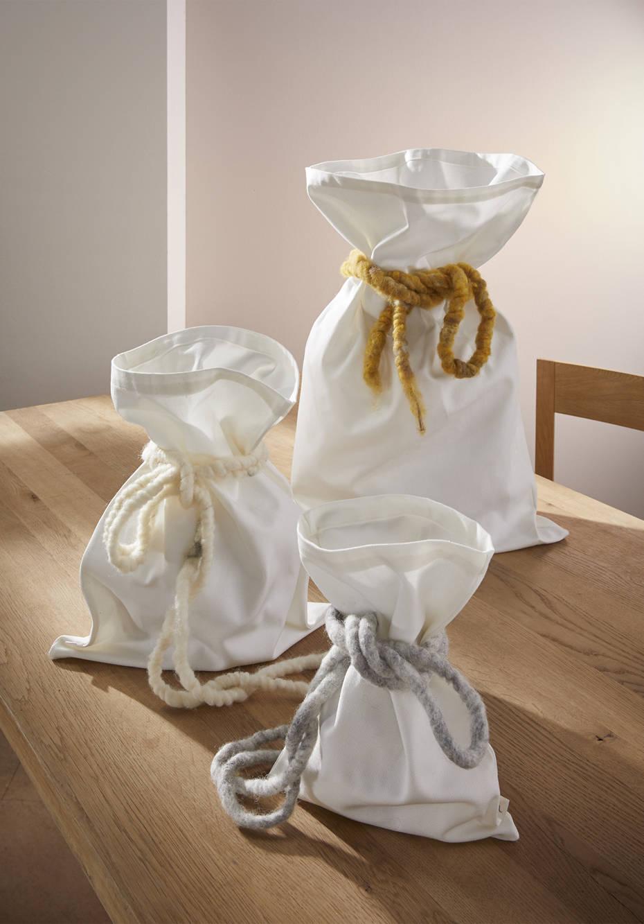Upcycling Geschenksäckchen aus reiner Bio-Baumwolle