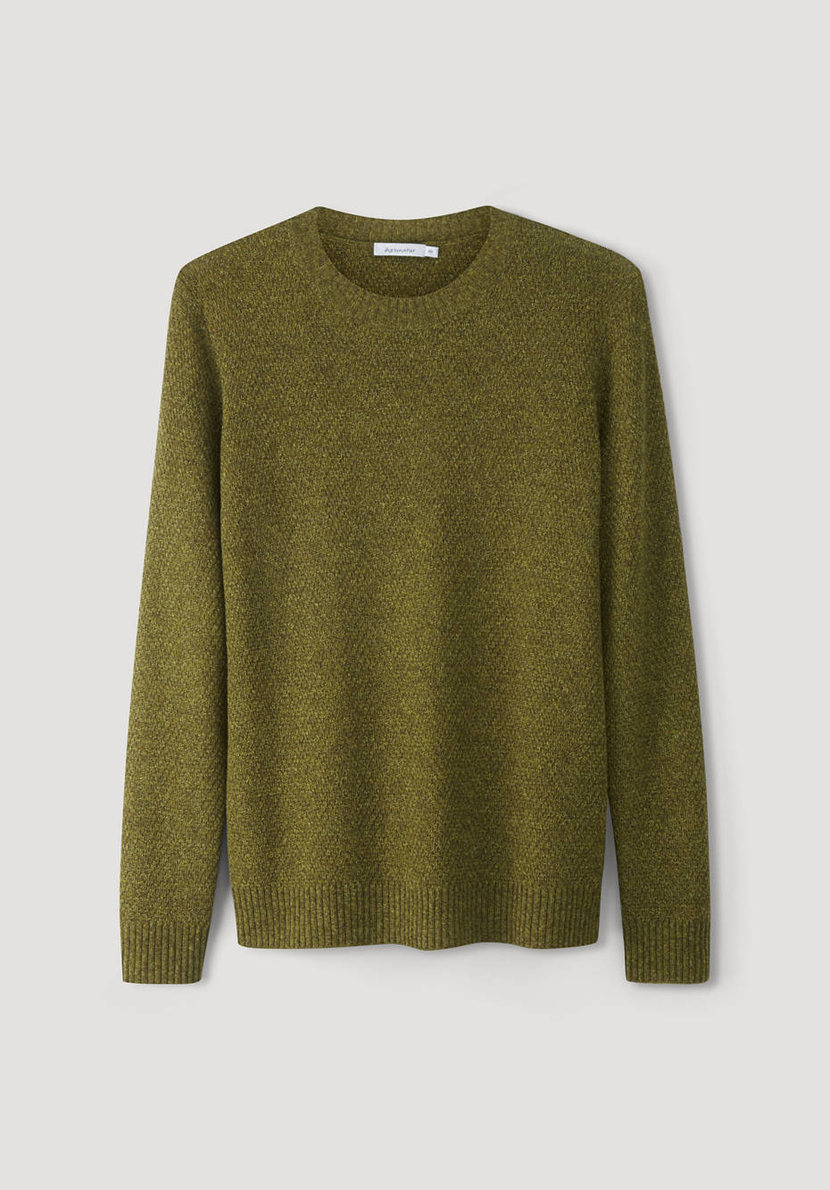 Virgin wool sweater with yak and cotton