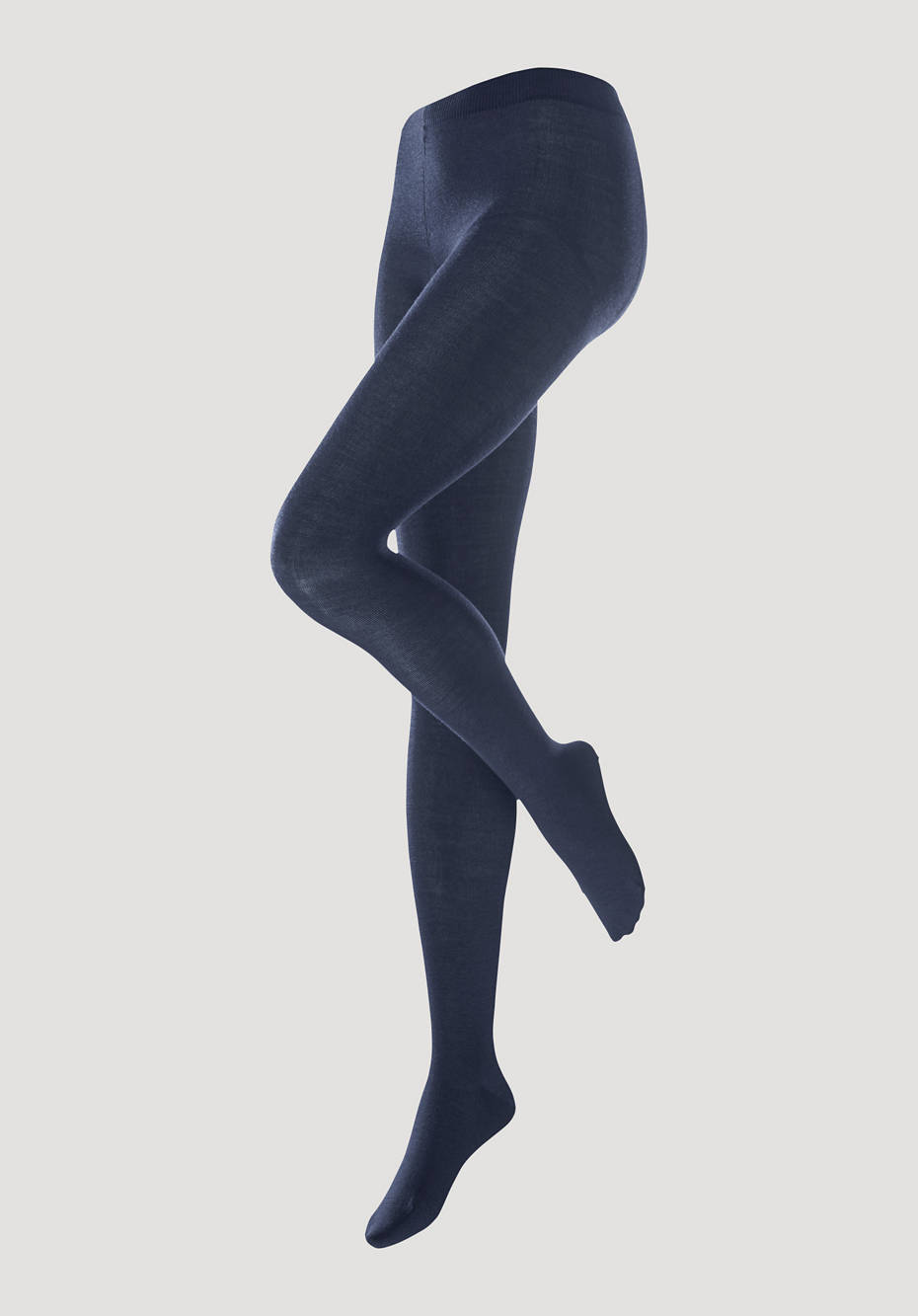 Virgin wool tights with organic cotton
