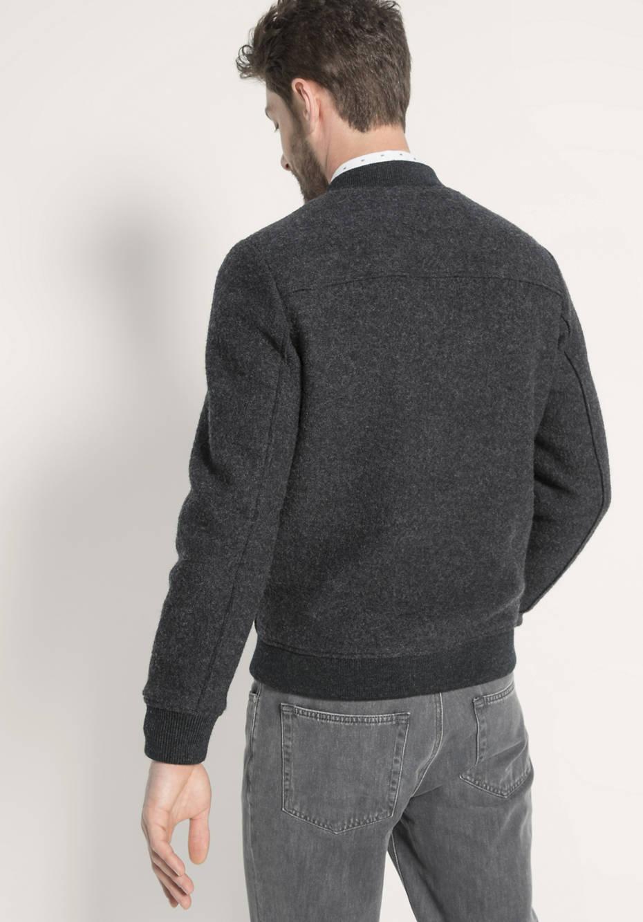 Walk-Blouson aus reiner Schurwolle