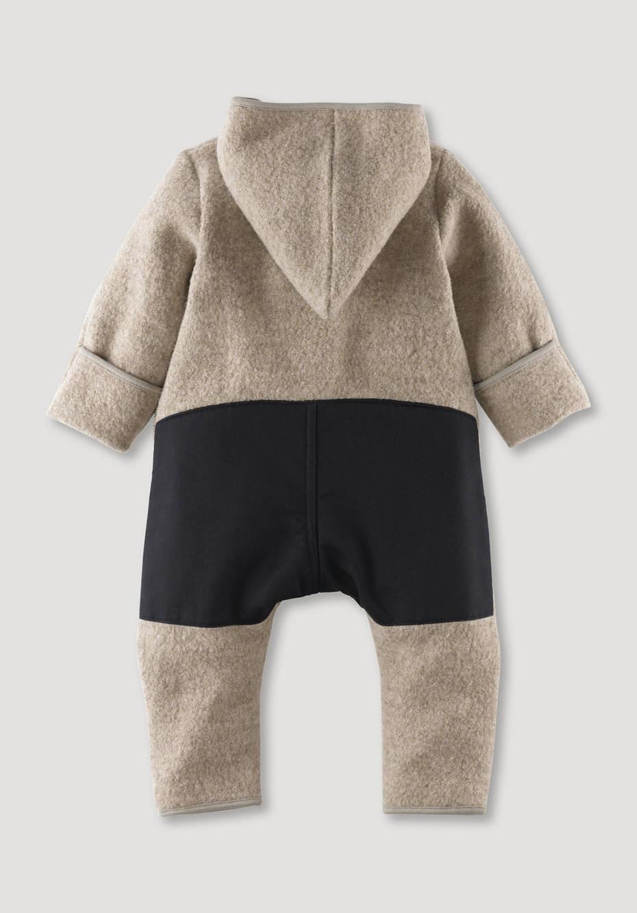 Walk overall made of organic merino wool and nature shell
