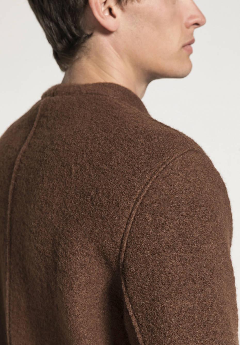 Walkjacke aus Schurwolle mit Bio-Baumwolle