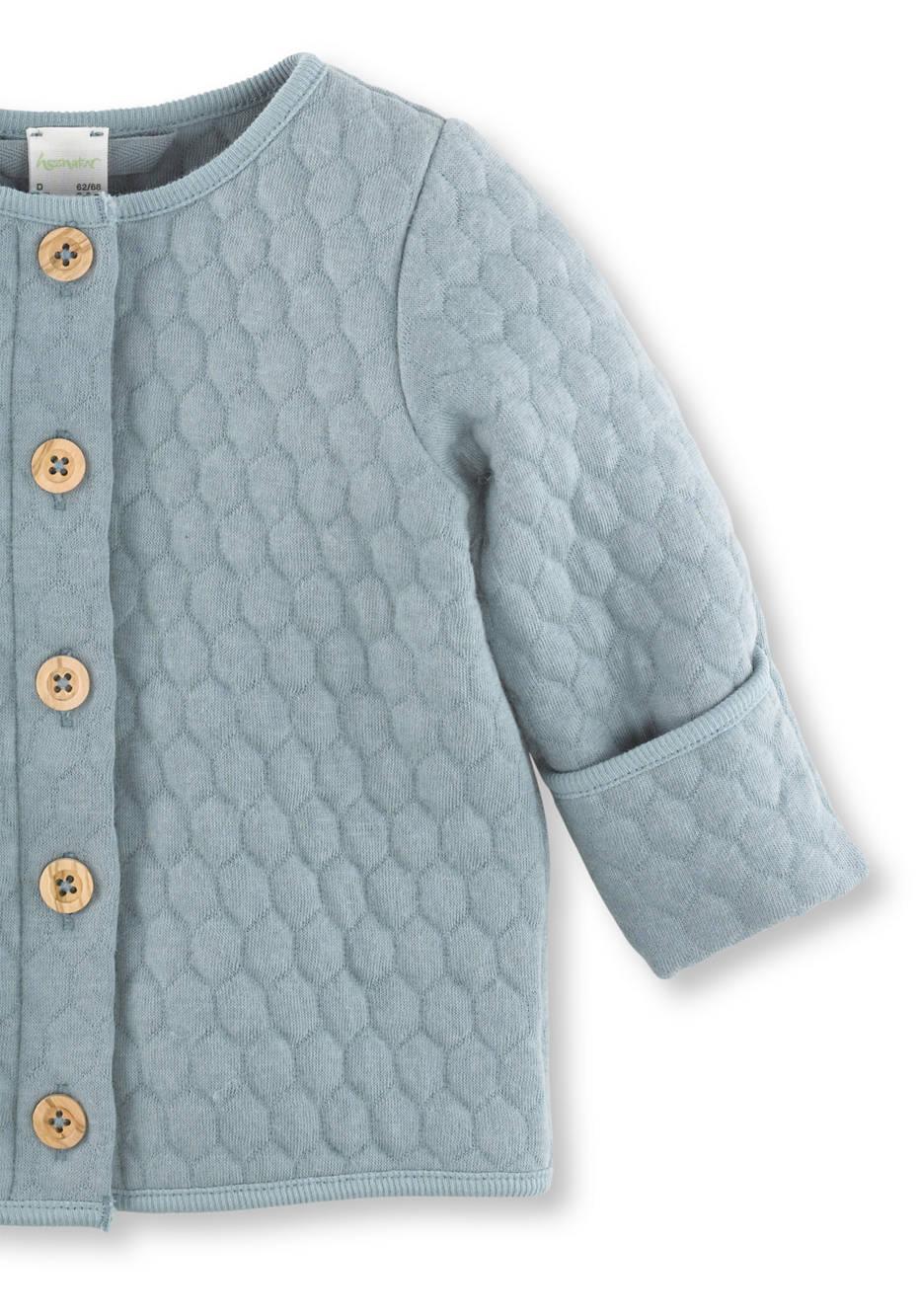 Wattierte Jacke aus Bio-Baumwolle mit Bio-Schurwolle