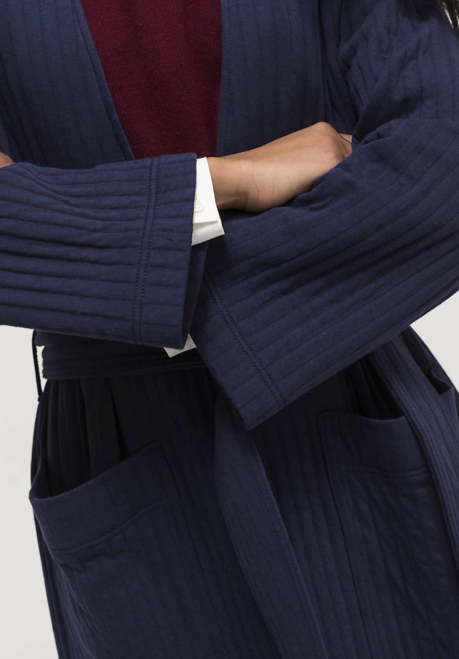 Wattierter Jacquard-Overcoat aus reiner Bio-Baumwolle