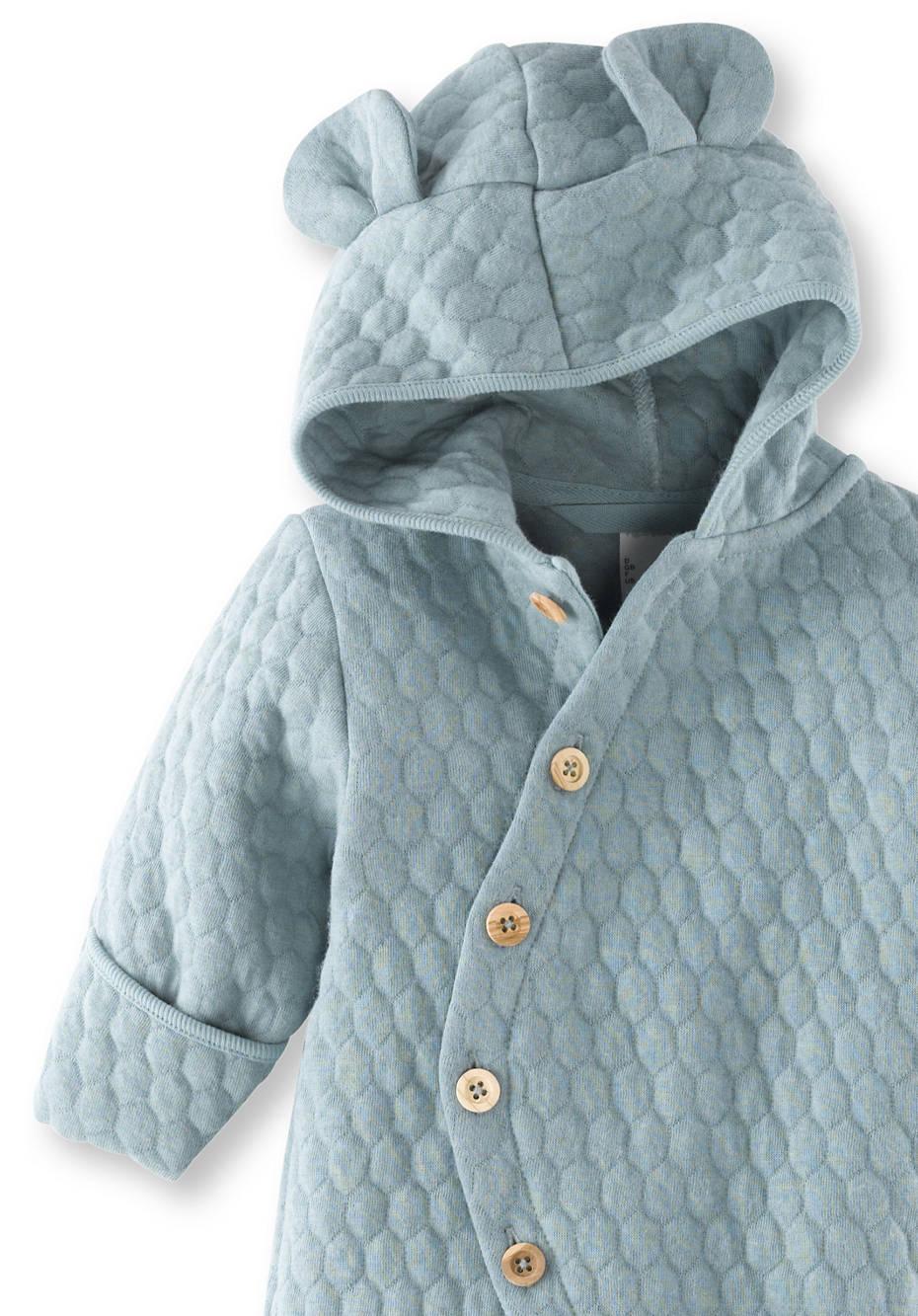 Wattierter Overall aus Bio-Baumwolle mit Bio-Merionowolle