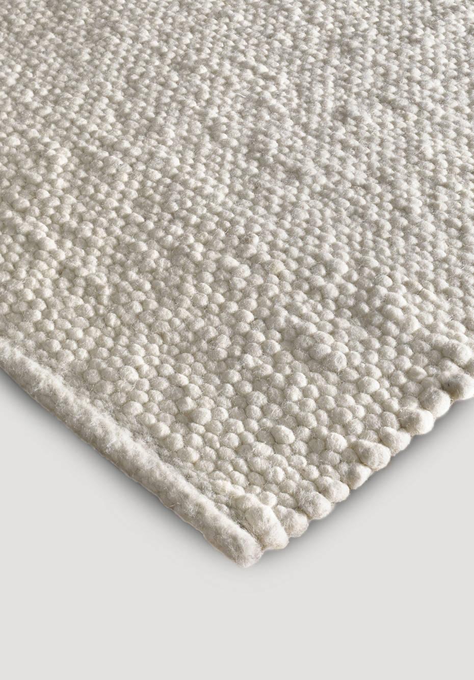 Webteppich aus reiner Deichschaf-Wolle