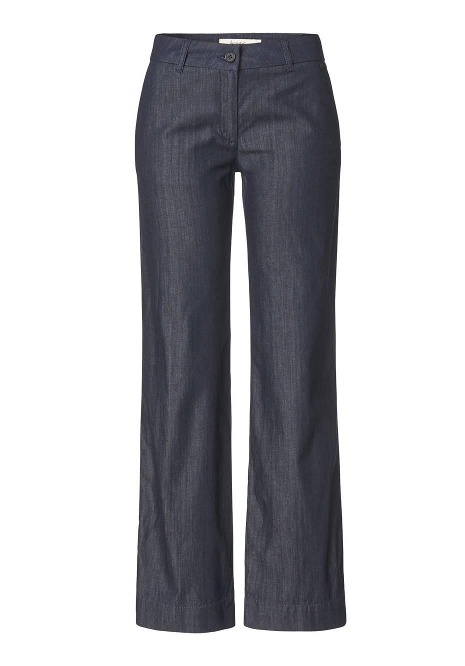 Weite Jeans aus reiner Bio-Baumwolle