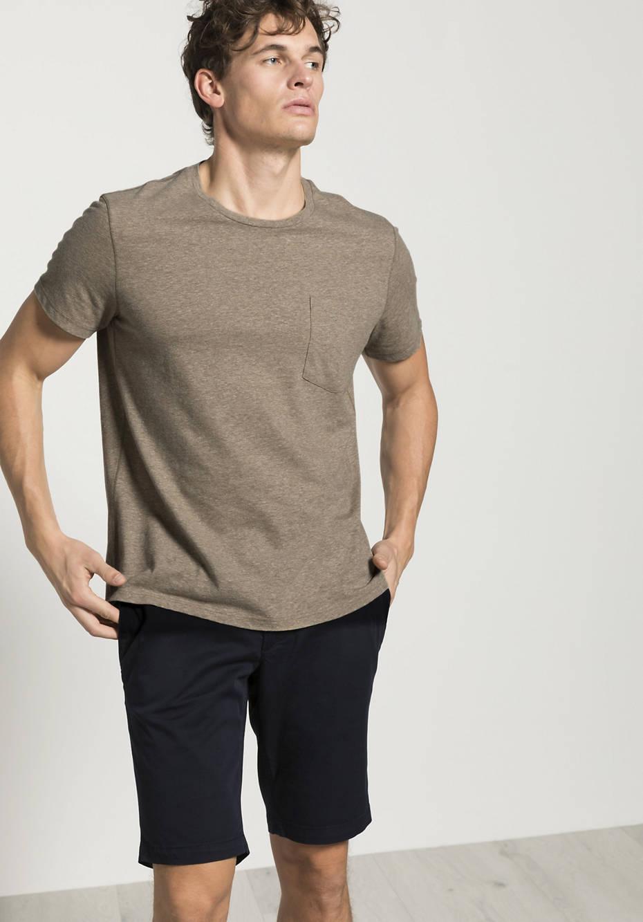 Weites T-Shirt mit Bio-Baumwolle mit Leinen