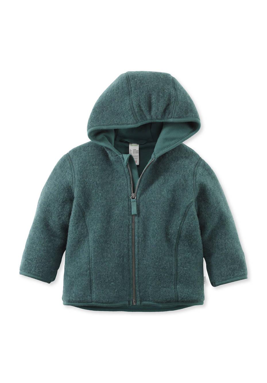 Wollfleece Jacke aus reiner Bio-Merinowolle
