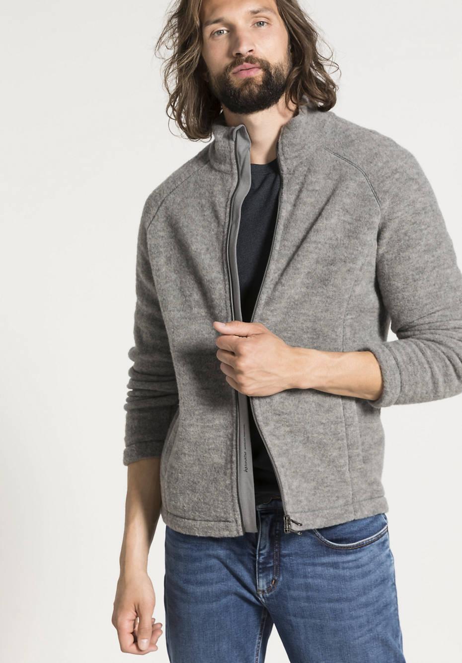 Wollfleece-Jacke aus reiner Bio-Schurwolle