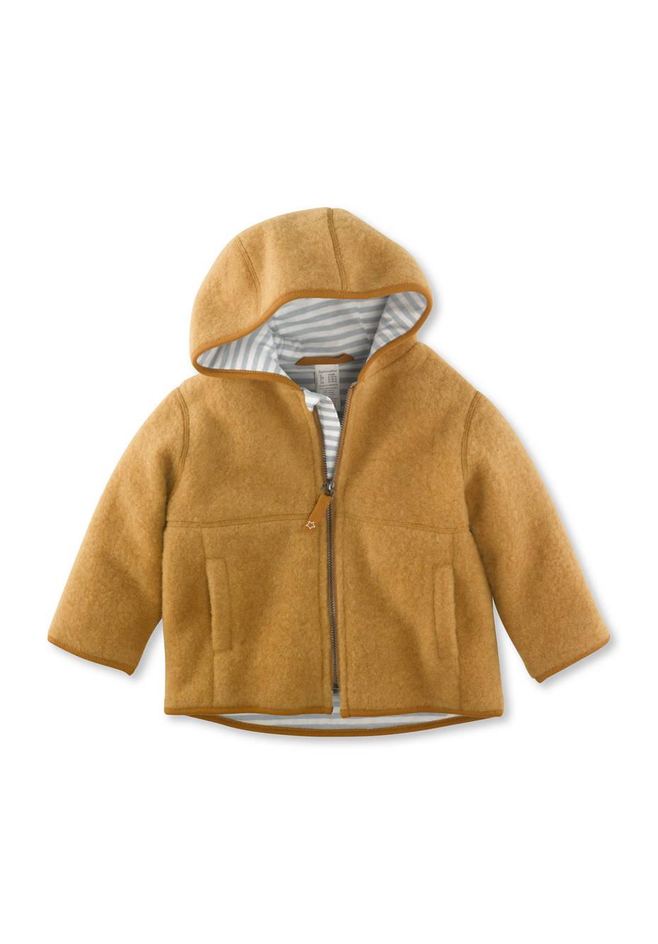 Wollfleece Jacke aus reiner Schurwolle