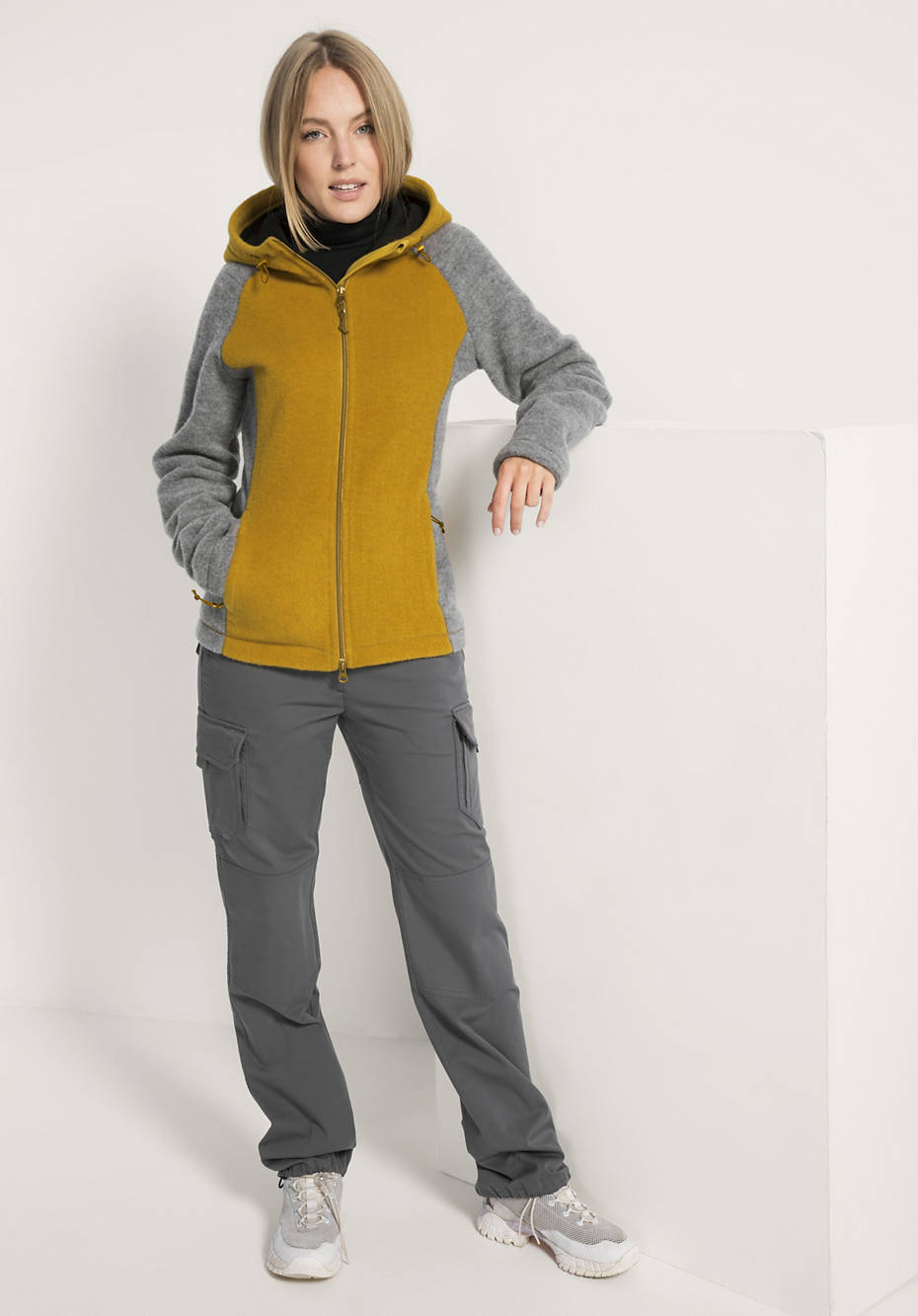 Wollfleece Jacke für Sie aus reiner Bio-Schurwolle