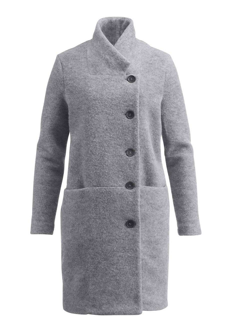 Wollfleece Mantel aus reiner Schurwolle