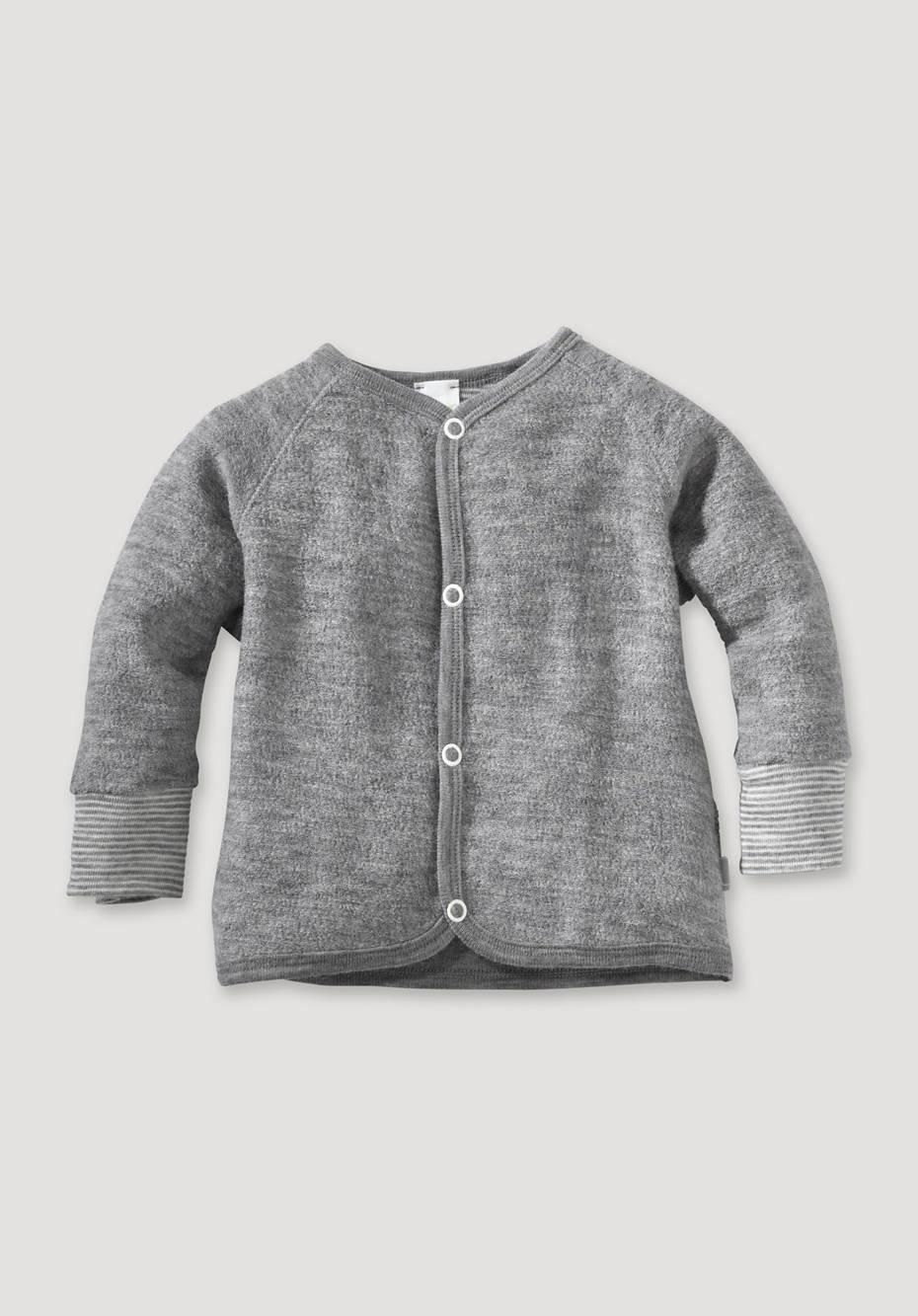 Wollfrottee Jacke aus reiner Schurwolle
