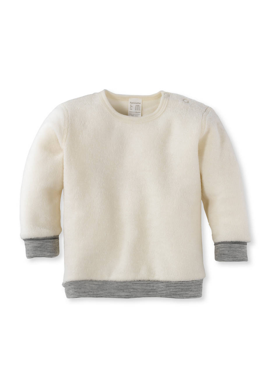 Wollfrottee-Shirt aus reiner Bio-Merinowolle