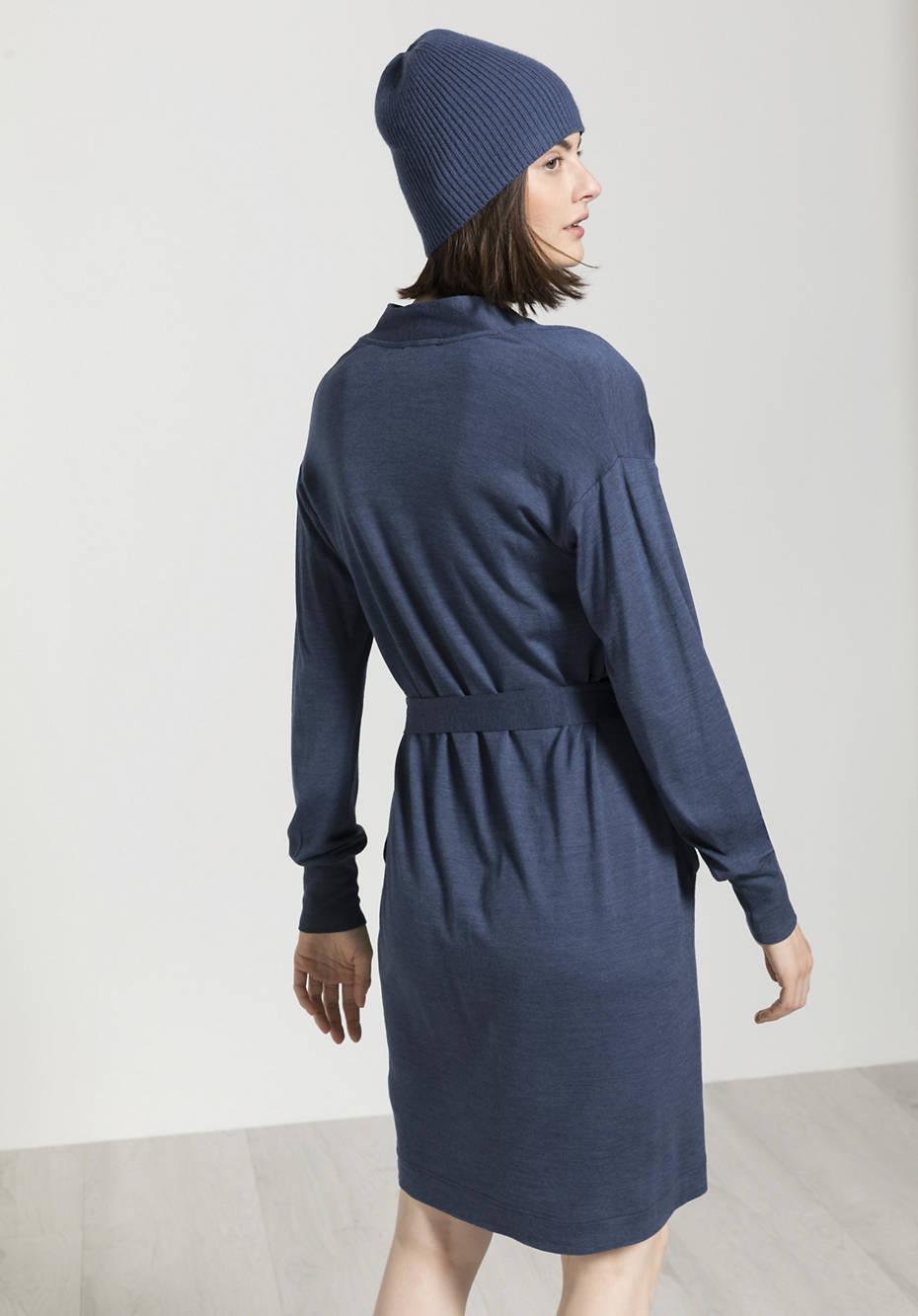 Wolljersey-Kleid aus Bio-Merinowolle mit Seide