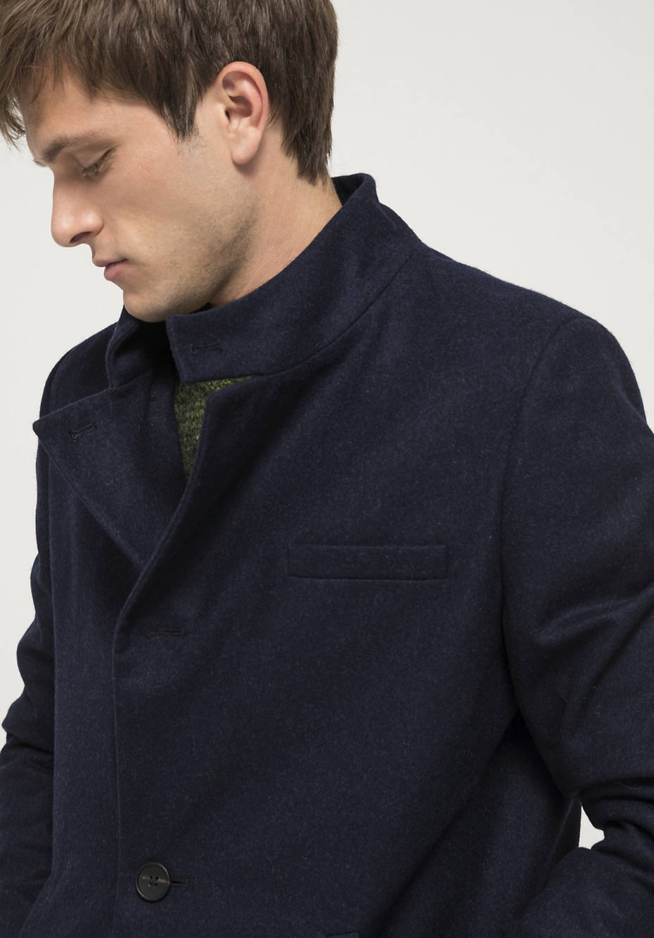 Wool coat made from pure Mongolian merino wool
