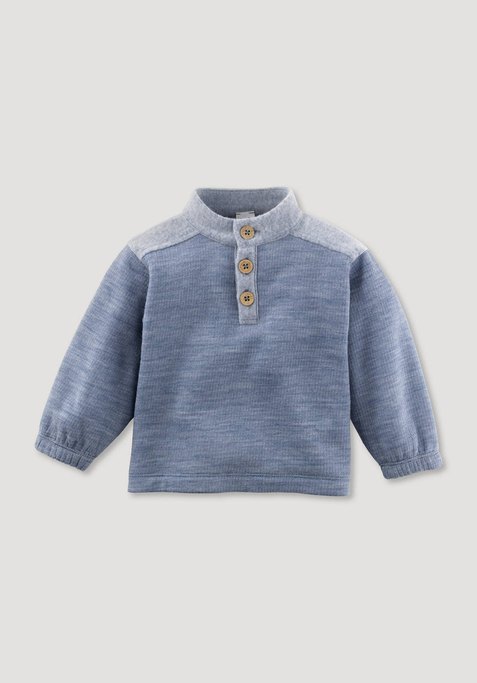 Wool fleece troyer made from pure organic merino wool