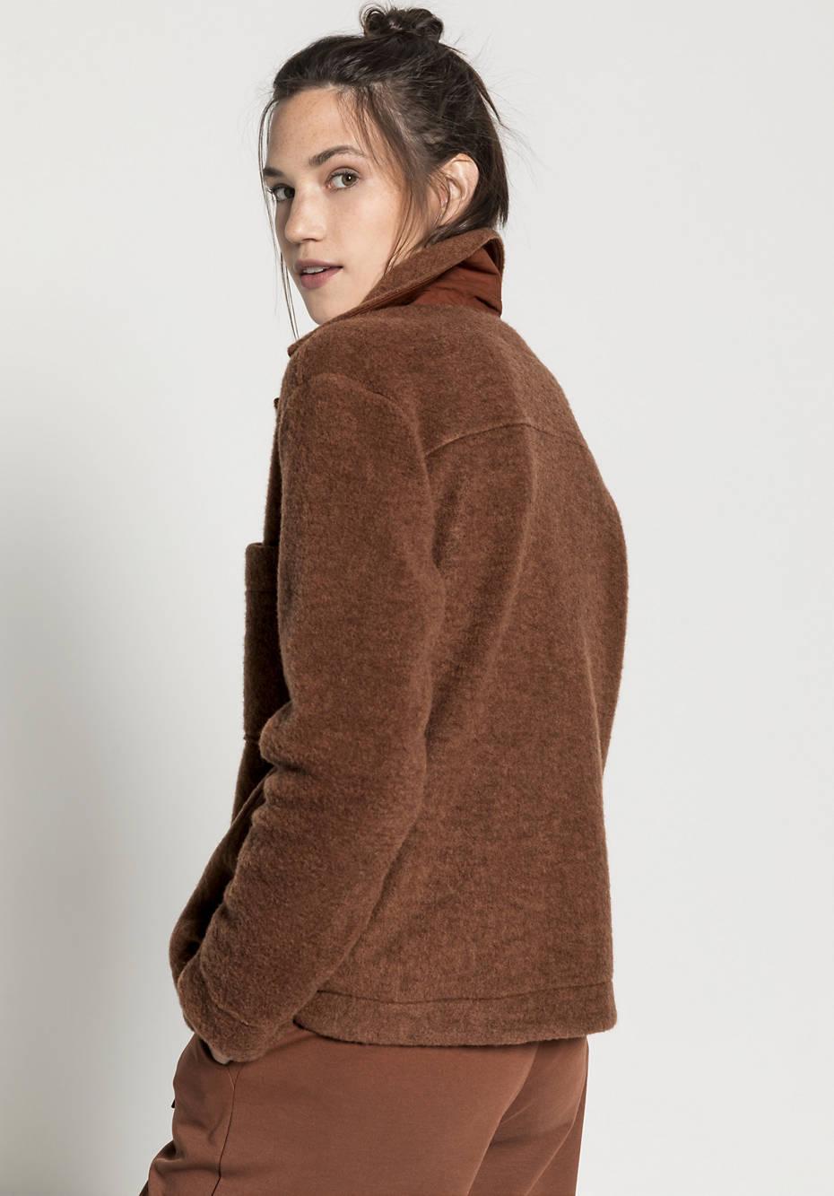 Woolfleece Overshirt aus reiner Bio-Schurwolle