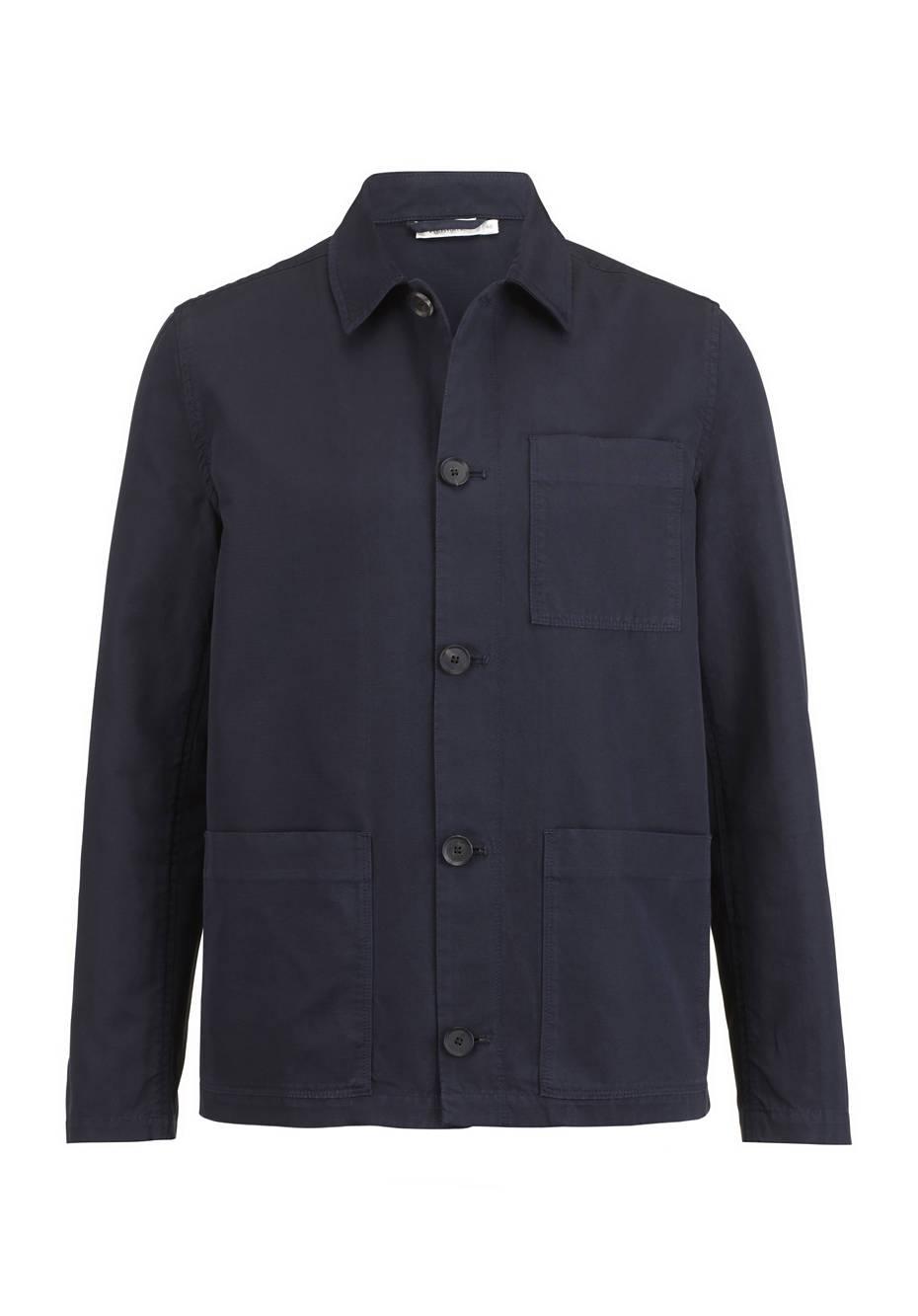 Workwear-Jacke aus Bio-Baumwolle mit Leinen