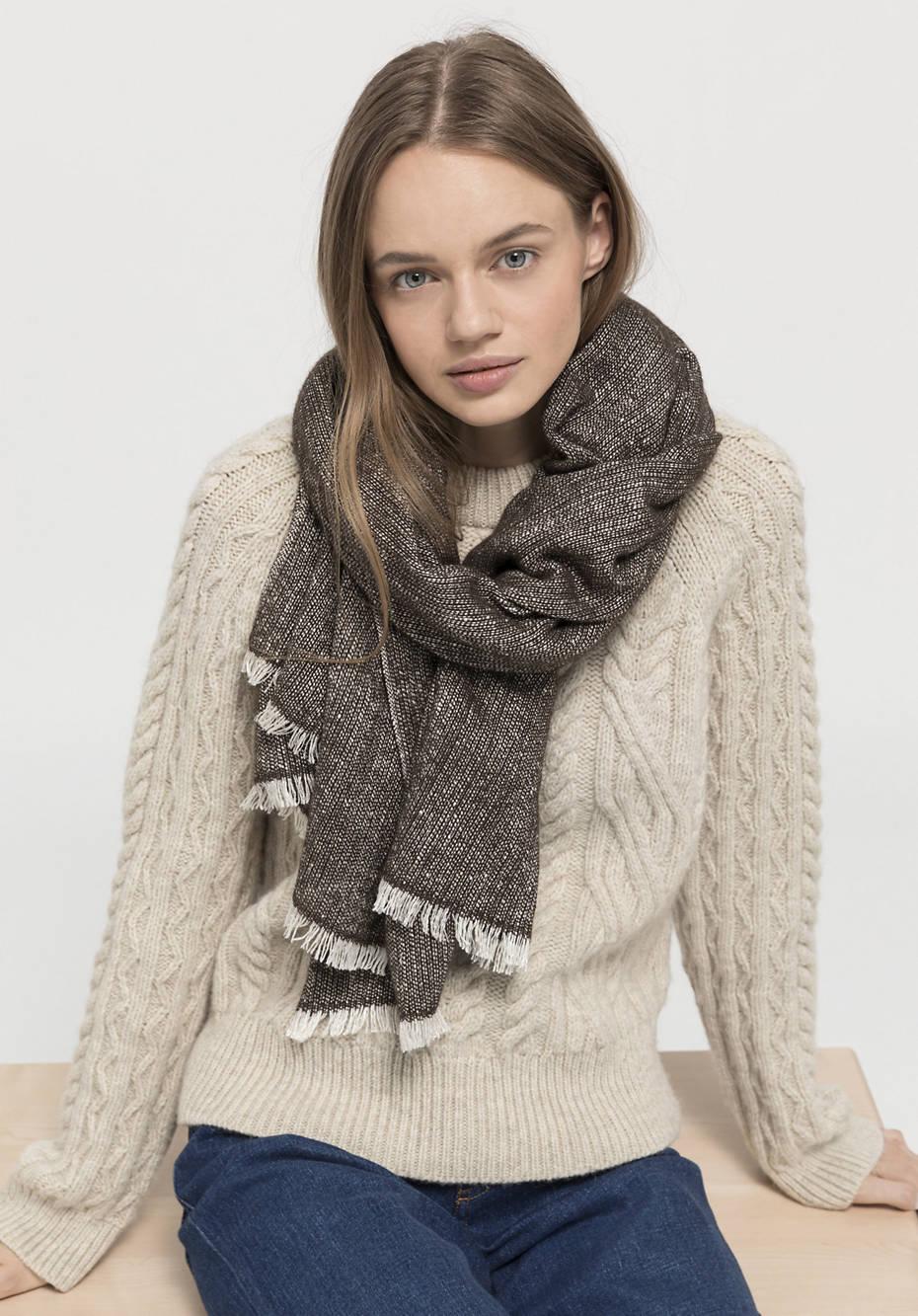 Yak wool and silk scarf