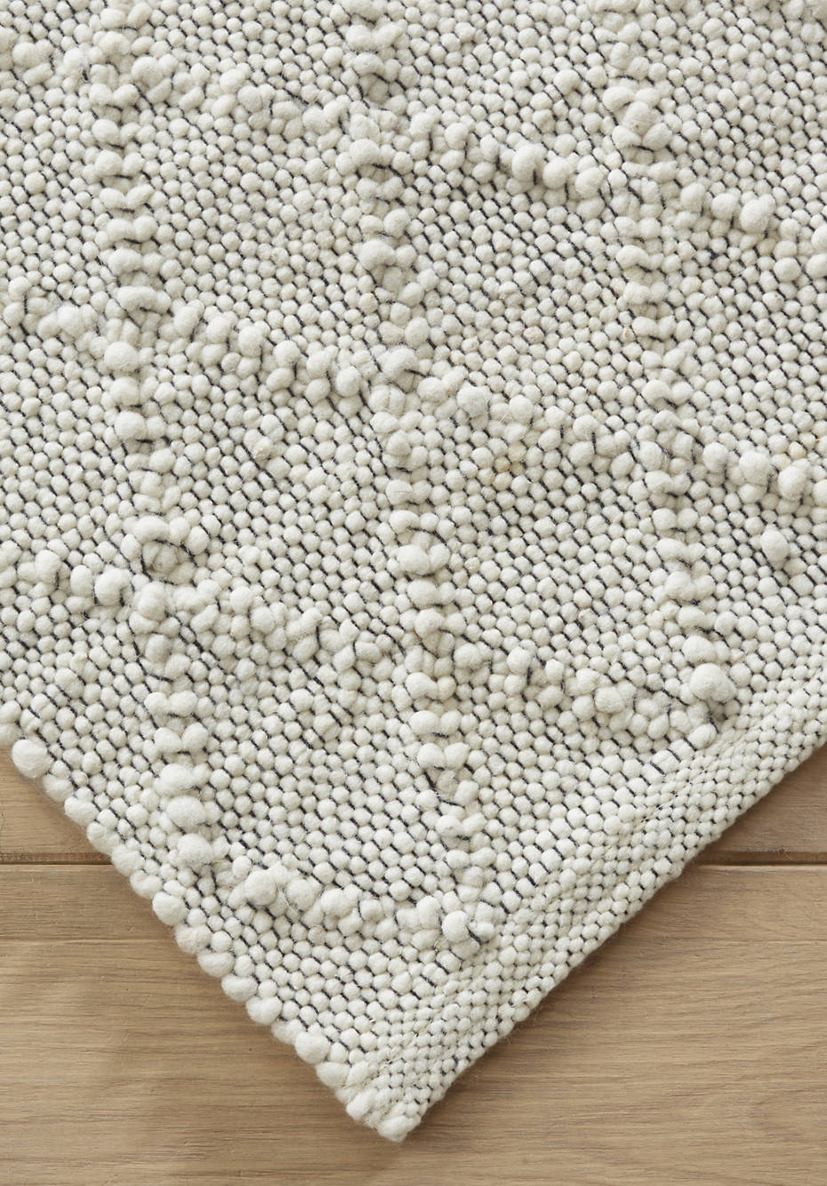Zopfmuster-Teppich Deichschaf aus reiner Schurwolle