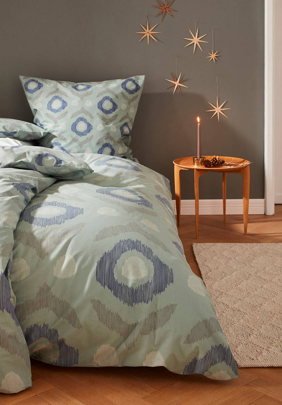 Zopfmuster-Teppich aus reiner Deichschaf-Wolle