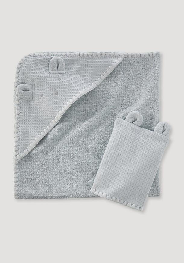 Bath towel gift set made of pure organic cotton