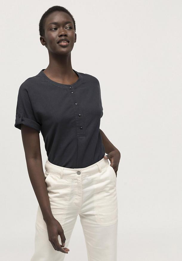 Blusenshirt aus Hanf mit Bio-Baumwolle