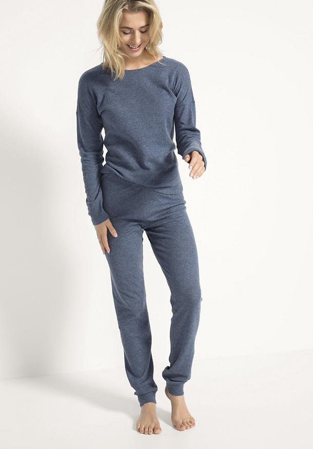 Bündchen-Hose aus Bio-Baumwolle mit Kaschmir
