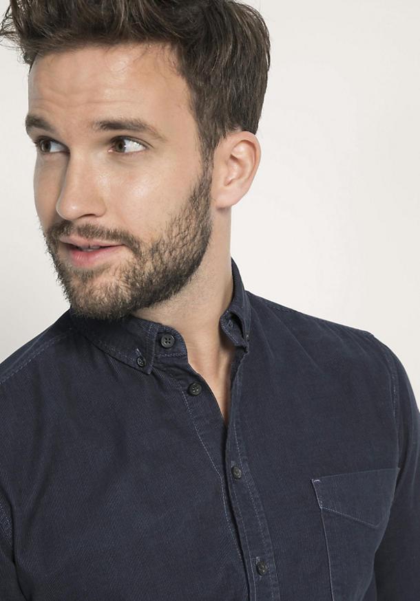 Cord Hemd Modern Fit aus reiner Bio-Baumwolle