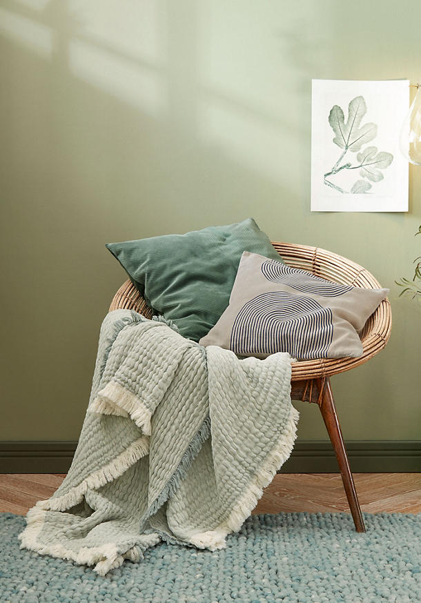 Cotton throw Tide made from pure organic cotton