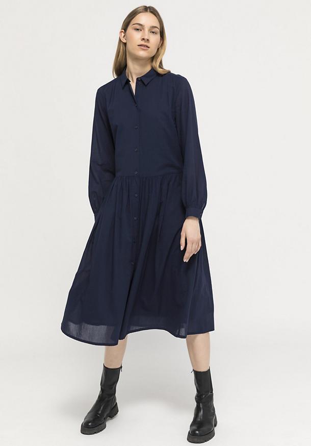 Crêpe dress made of pure organic cotton