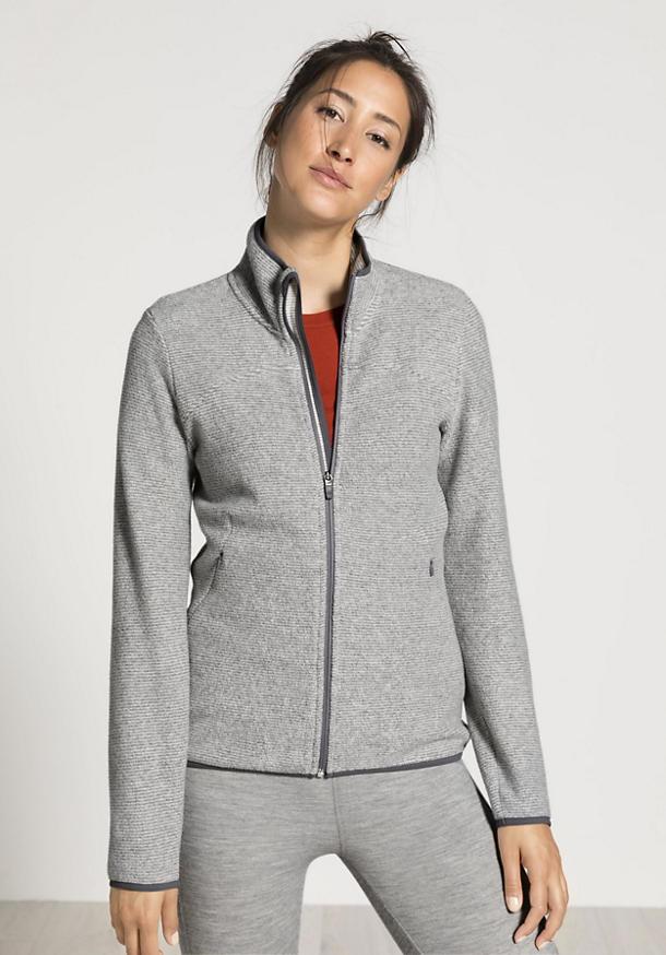 Damen Fleece-Jacke aus reiner Bio-Baumwolle
