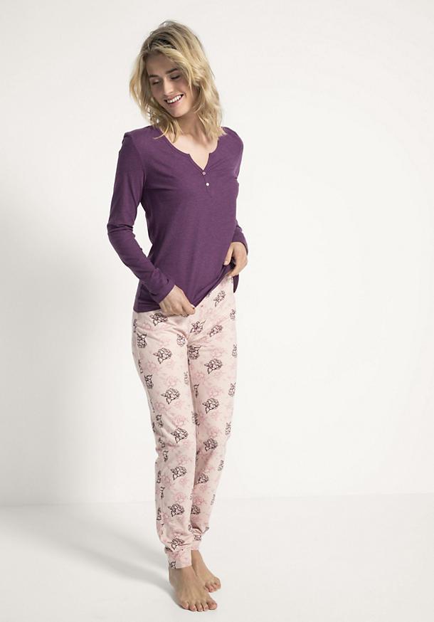 Damen Pyjama-Hose aus reiner Bio-Baumwolle