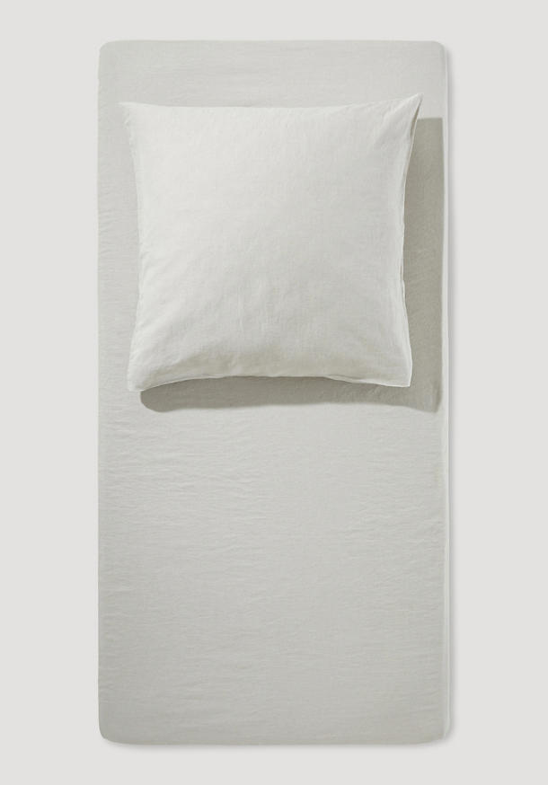 Fitted sheet made of organic linen with organic cotton