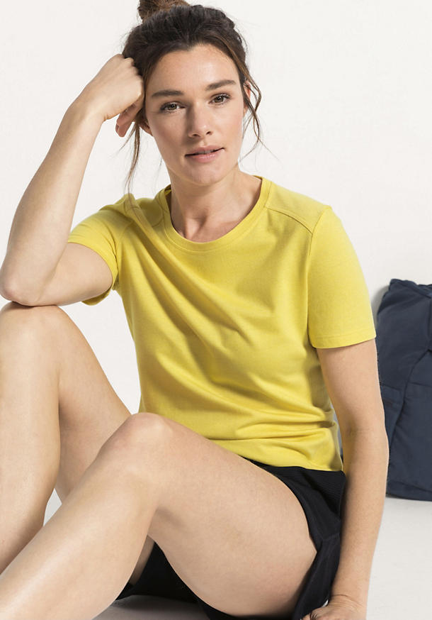 Funktionsshirt für Sie aus Bio-Baumwolle mit Bio-Merinowolle