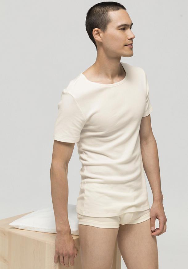 Half-sleeve shirt ModernNATURE made of pure organic cotton