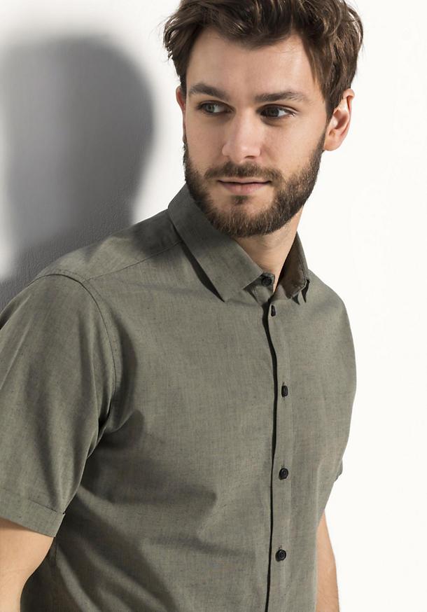 Hemd Modern Fit aus Bio-Baumwolle mit Hanf