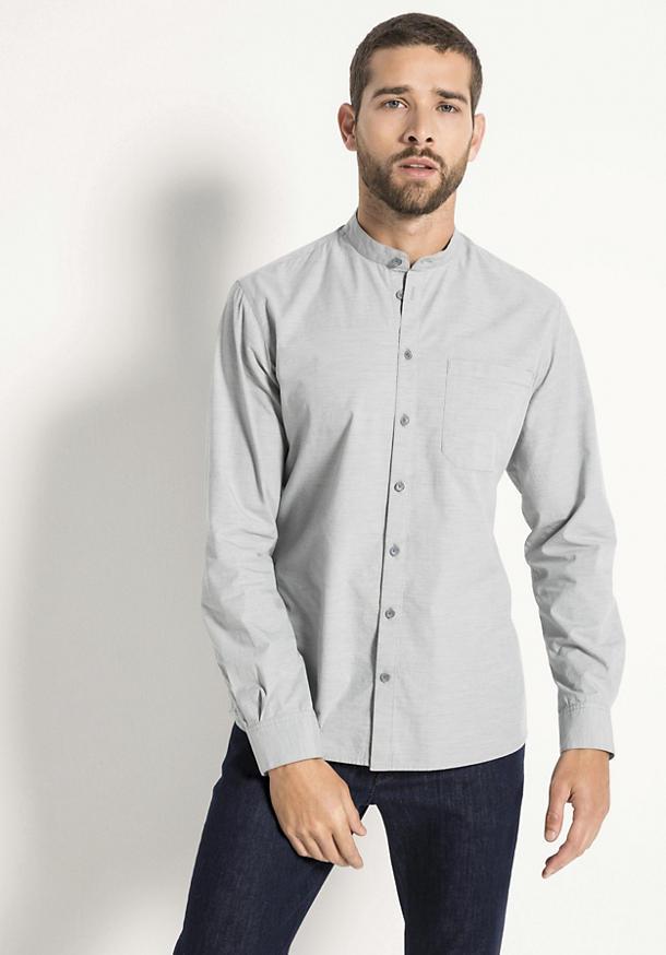 Hemd Modern Fit aus Bio-Baumwolle mit Hanf und Yak