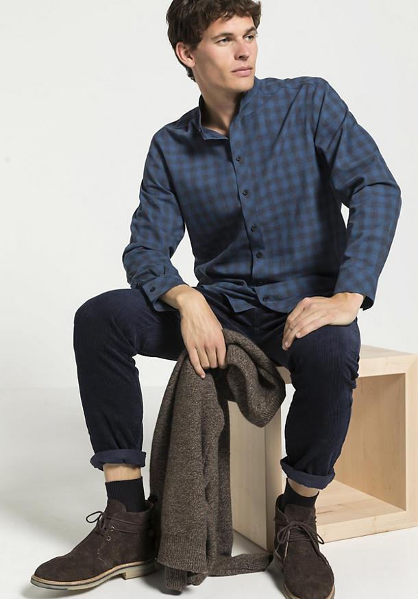Herren Karohemd Comfort Fit aus reiner Bio-Baumwolle