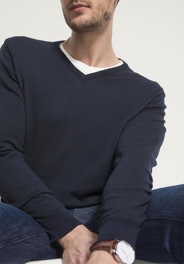 Herren Pullover aus reiner Bio-Merinowolle