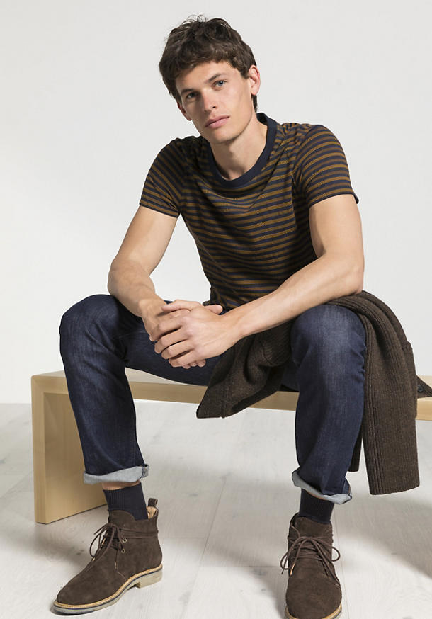 Herren Streifen-Shirt aus reiner Bio-Baumwolle