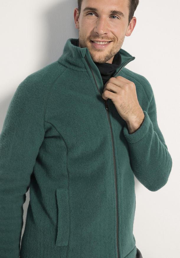 Herren Wollfleece Jacke aus reiner Bio Schurwolle