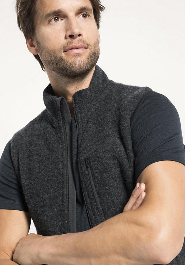 Herren Wollfleece Weste aus reiner Schurwolle