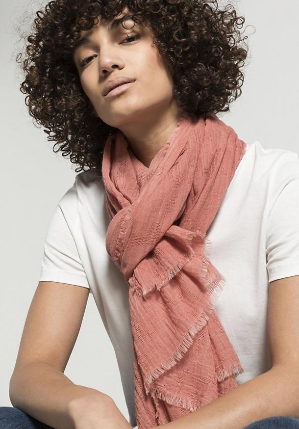 Jacquard-Schal aus reiner Bio-Baumwolle